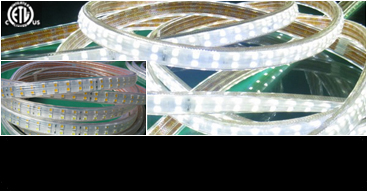 NEW ETL Listed LED Double Tape 120V Line Voltage: 82 ft Waterproof