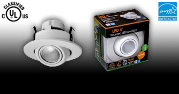 NEW UL Classified FL-4RET Retrofit Eyeball with LED Dimmable Driver Included