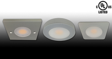 UL Listed FL-208 Series LED Recessed or Surface Puck Lights