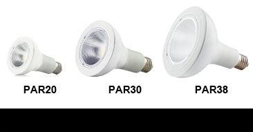 UL Approved PAR Series LED Dimmable Bulbs